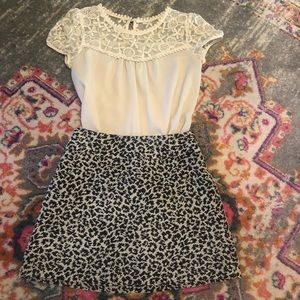 Abercrombie and Fitch Leopard Print Mini Skirt
